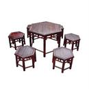 Bộ bàn ghế hình lục giác bằng tre
